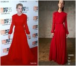 Carey Mulligan In Giambattista Valli – 'Mudbound' New York Screening