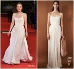 Dakota Fanning In J. Mendel  At 'Please Stand By' Rome Film Fest Premiere