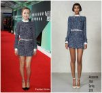 "Saoirse Ronan  In  Alessandra Rich   – "" On Chesil Beach"" BFI London Film Fest Premiere"