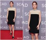 Zoey Deutch In Miu Miu  At  'Molly's Game' Savannah Film Festival Screening