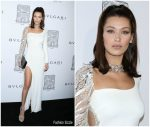 Bella Hadid In Roberto Cavalli –  Bulgari  Opening In New York