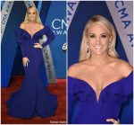Carrie Underwood In Fouad Sarkis Couture  At 2017 CMA Awards