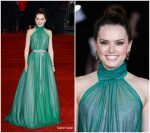 Daisy Ridley In Vivienne Westwood Couture – 'Murder On The Orient Express' World Premiere
