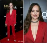 Dakota Johnson in Calvin Klein  At   2017  Hollywood Film Awards