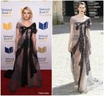 Emma Roberts In Ulyana Sergeenko Couture At 68th National Book Awards