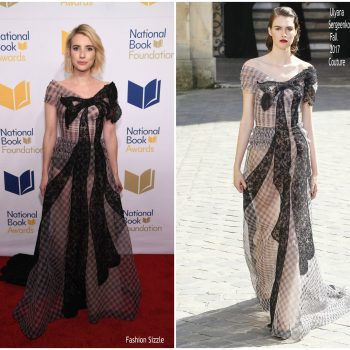 emma-roberts-in-ulyana-sergeenko-couture-68th-national-book-awards