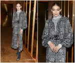 Gigi Hadid  In Chanel @ V Magazine Dinner in Honor of Karl Lagerfeld in New York