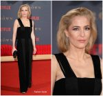 Gillian Anderson In Galvan  At 'The Crown' Season 2 London Premiere