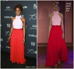 Issa Rae In Brandon Maxwell – HFPA and Instyle Celebration of the 2018 Golden Globe Awards