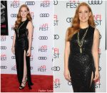 Jessica Chastain In Elie Saab At  'Molly's Game' AFI FEST Screening