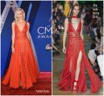 Karlie Kloss In Elie Saab  At 2017 CMA Awards
