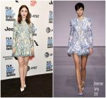 Lily Collins In Zimmermann – Film Independent 2018 Spirit Awards Press Conference