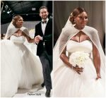 Serena Williams  Wears Alexander Mcqueen  For Her Wedding  To  Alexis Ohanian