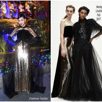 sofia-carson-in-monique-lhuillier-2017-saks-fifth-avenue-disnry-once-upon-a holiday