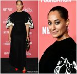 Tracee Ellis Ross  In   Vintage Pierre Balmain –  SAG-AFTRA Foundation Patron of the Artists Awards