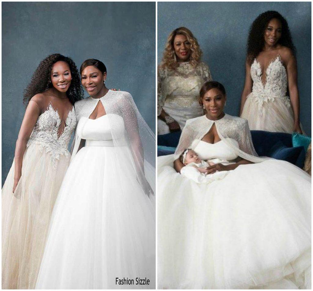 Celebrity Wedding Login: Venus Williams In Custom Galia Lahav @ Serena Williams