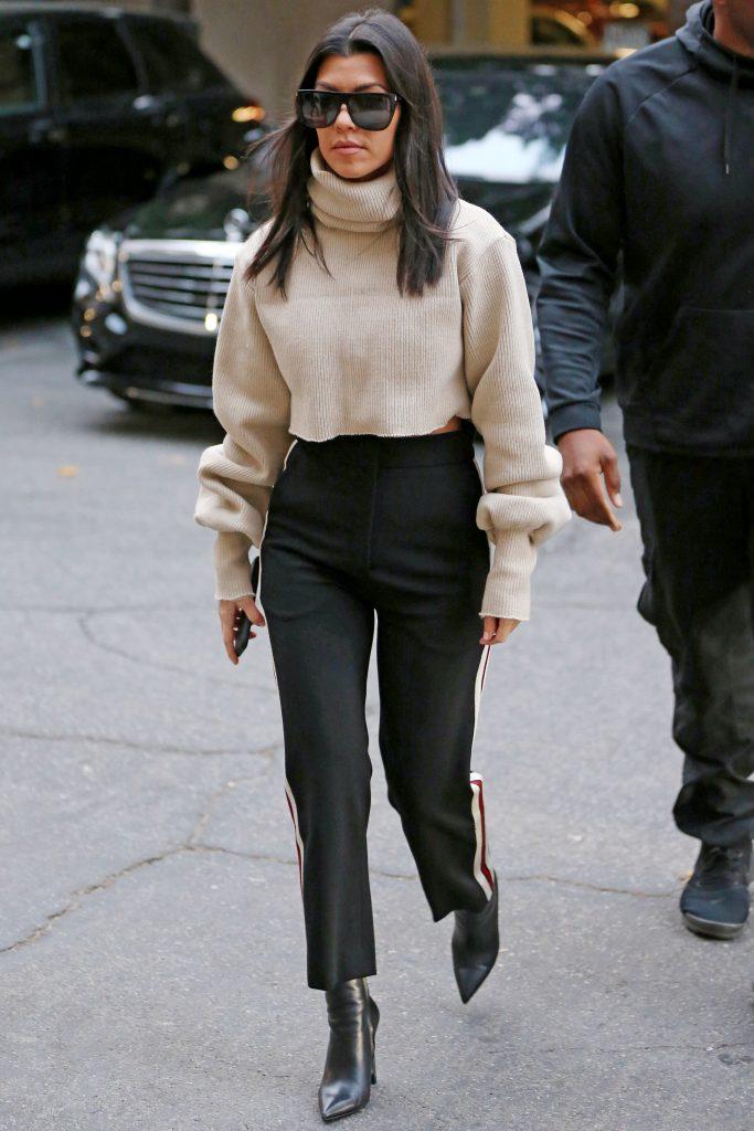 Kourtney Kardashian In Orseund Iris Sandro Roz Out In La Fashionsizzle