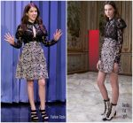 Anna Kendrick In Giamba  @ The Tonight Show Starring Jimmy Fallon