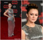 Billie Lourd in Tom Ford –  'Star Wars: The Last Jedi' LA Premiere