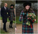 Duchess Kate  Middleton In Miu Miu –  Christmas Day  Church Service In England