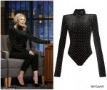 Fergie in Saint Laurent @ 'Late Night with Seth Meyers'