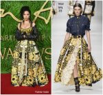 FKA Twigs In Versace  At  The Fashion Awards 2017