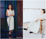 Jenna Coleman In Emilia Wickstead – Late Night with Seth Meyers