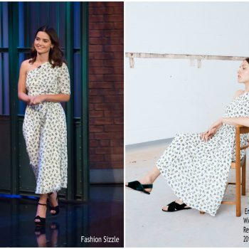 jenna-coleman-in-emilia-wickstead-late-night-with-seth-meyers