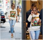 Jennifer Lopez  In Gucci With Alex Rodriguez Christmas Shopping in Miami