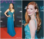 Jessica Chastain In Elie Saab – 'Molly's Game' Amsterdam Premiere
