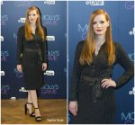 Jessica Chastain In Prada  – 'Molly's Game' Madrid Photocall