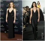Jessica Chastain  In  Ralph Lauren – 'Molly's Game' Madrid  Premiere