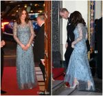 Kate Middleton In Jenny Packham – Royal Variety Performance in London