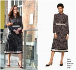 Kate Middleton  In  Kate Spade New York  – The Foundling Museum in London