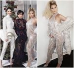 Khloe Kardashian  shows her baby bump @ Kardashian Christmas Party