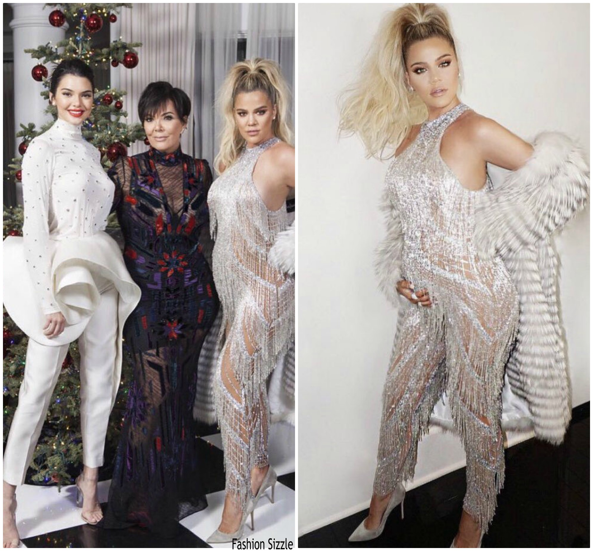 Khloe Kardashian shows her baby bump @ Kardashian Christmas Party ...