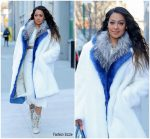 Lala Anthony  In  Dries Van Noten – Out In New York