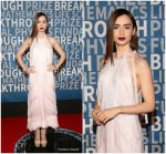 Lily Collins In Prada  At 2018 Breakthrough Prize