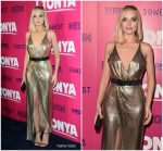 Margot Robbie In Versace  At 'I, Tonya' LA Premiere