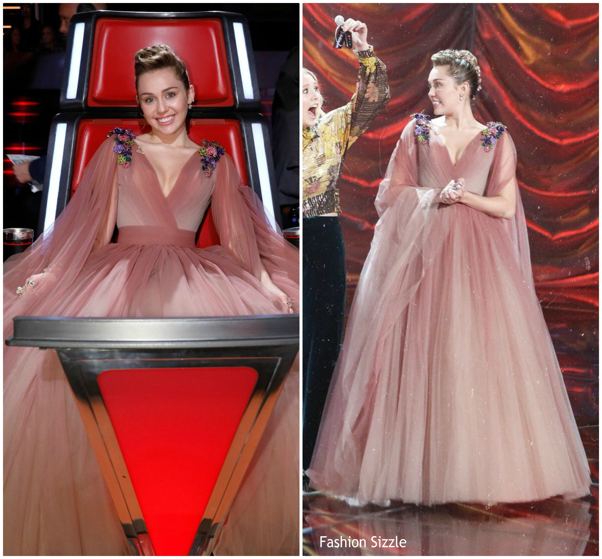 Miley Cyrus In Nicolas Jebran Couture – The Voice Finale - Fashionsizzle