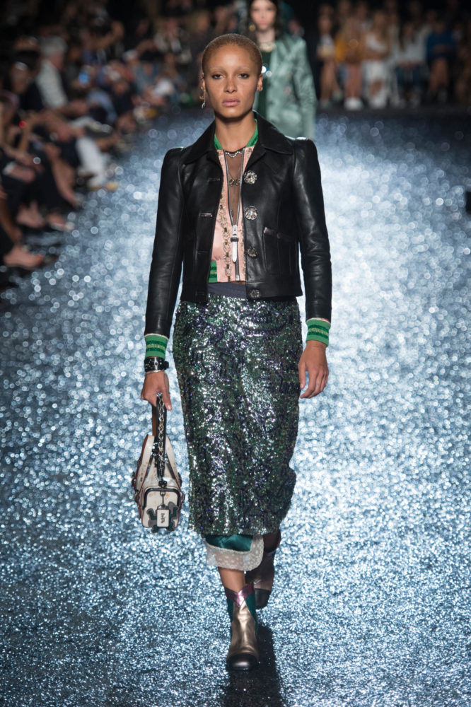 runway trend spring sequin michael kors sequins things coach pants fashionsizzle week nyfw york daily