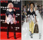 "Noomi Rapace  In Louis Vuitton @  Netflix's "" Bright'  Tokyo Premiere"