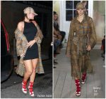 Rihanna In Burberry – Out In New York
