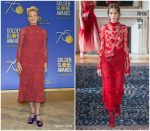Sharon Stone In Valentino  – 2018 Golden Globe Awards  Nominations Announcement