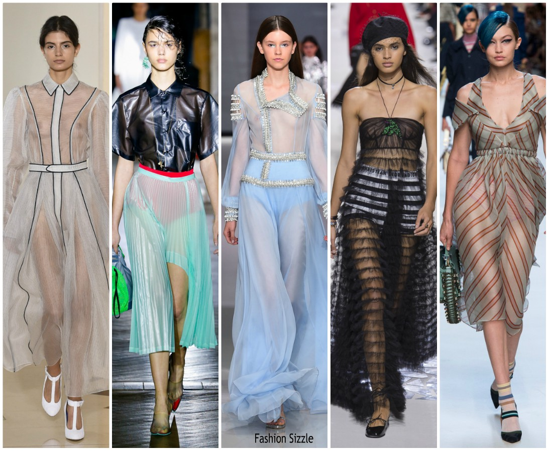 Spring 2018 Runway Fashion Trend Sheer Fashionsizzle