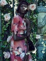 Ajak Deng for Elle UK Photographed by Ed Singleton