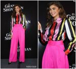 "Zendaya  In  Maria Escote  & Styland –  ""The Greatest Showman "" Mexico Press Conference"