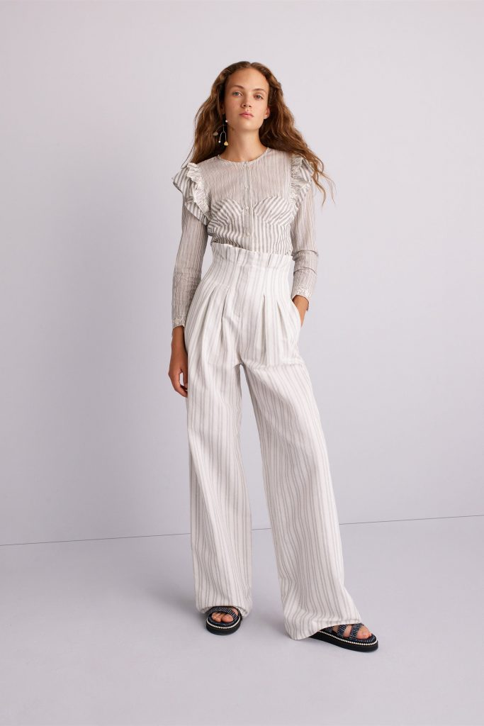 Spring 2018 Runway Fashion Trend High Waisted Trousers