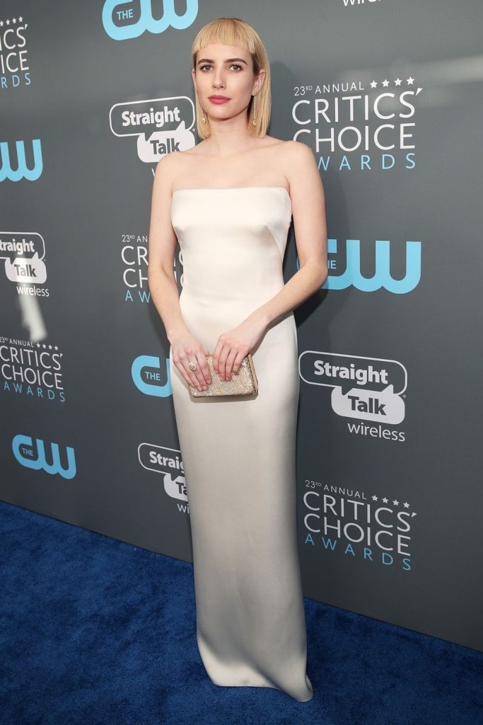 Emma Roberts in Giorgio Armani - 2018 Critics\' Choice Awards ...