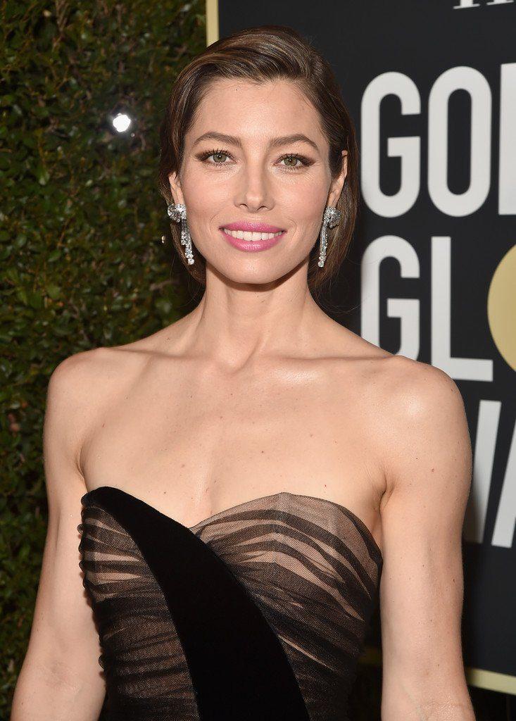 Jessica Biel In Christian Dior 2018 Golden Globe Awards
